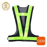 Da estrada elevada amarela da visibilidade do OEM veste reflexiva de ciclagem da segurança com seu próprio logotipo