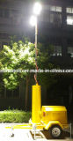 Приведенная в действие генератором портативная башня СИД светлая для места деятельности поля строительства дорог движения