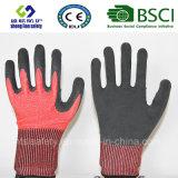 Handschoen &#160 van het Werk van de Veiligheid van de besnoeiing de Bestand; met Schuim Latex Met een laag bedekte  De Handschoenen van de veiligheid