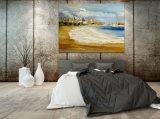 Olieverfschilderij Dowmtown van de Kunst van de Muur van de kust het Abstracte