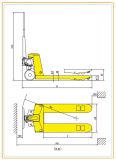 Caminhão de paletes manual hidráulico adequado para operação de espaço estreito