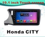 De androïde GPS van het Systeem Auto DVD van de Navigatie voor het Scherm van de Capacitieve weerstand van de Stad 10.1inch van Honda met WiFi/TV/Bluetooth