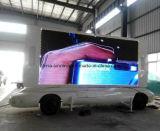 De Aanhangwagen van de Vrachtwagen van de Reclame van de hete Openlucht LEIDENE van de Verkoop Raad van de Vertoning met P6 P8 P10