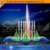 Fontaine de flottement de module de dessus de la pente 3D de gicleur de lac en bois music