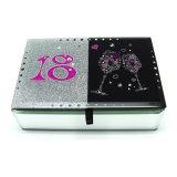 Caja de embalaje del regalo de cristal cosmético de lujo de la joyería para el cumpleaños