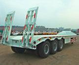 3axles Gooseneck van het Vervoer van het graafwerktuig Semi Aanhangwagen van Lowbed van het Bed van Lowboy de Lage