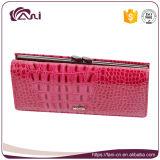 Бумажник крокодиловой кожи неподдельной кожи типа оптового роскошного бумажника женщин длинний