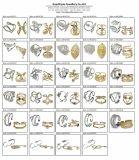 Anello intarsiato argento 925 con piccolo 3A CZ bianca per le donne (R10680)
