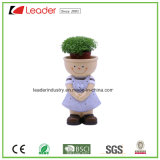 Handpainted Polyresin Kid vasos&Plantadeiras para decoração de casa e jardim