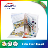 Opuscolo personalizzato della scheda di colore di stampa del libro per fare pubblicità