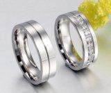 Anéis de Titainum do estilo novo/anel casamento de aço do ouro