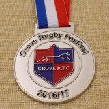 Médaille bon marché faite sur commande de rugby d'Amzing de fabrication pour le souvenir