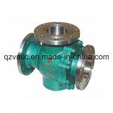 Constructeur à trois voies d'usine d'usine de robinet à tournant sphérique du robinet à tournant sphérique de T-Port de bride de DIN/JIS/GOST/API/ANSI Q45f