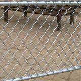 Frontière de sécurité galvanisée de maillon de chaîne/frontière de sécurité de diamant