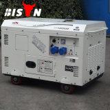 (중국) 고전적인 공기에 의하여 냉각되는 10kw 의 발전기 전기 220V 10kw 의 낮은 Rmp 단일 위상 낮은 Rpm 디젤 발전기