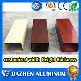 Mejor Calidad plaza rectangular de aluminio Tubo Tubo de perfil con revestimiento de color