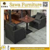 Cabina del sofá del restaurante, sofá de cuero de la cabina del restaurante