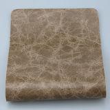 Couro marmoreando brilhante do PVC do plutônio de Upholstery para o sofá (F8002)