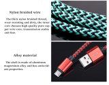 carregador USB trançado de Nylon coloridos cabo de dados de sincronização