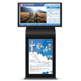 32 Zoll-doppelter Bildschirm-Bekanntmachenspieler, Digitalanzeigen-DigitalSignage LCD-Panel