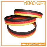 Kundenspezifischer SilikonWristband mit geprägtem Drucken-Firmenzeichen (YB-SW-21)