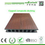 Durable Huasu Co-Extrusion Composite Decking plafonné WPC Decking-de-chaussée