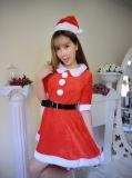 Uniforme de Papai Noel Cosplay da mostra do Natal da roupa interior do Natal da menina