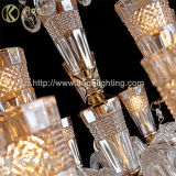 Luz de lustre de cristal de âmbar de estilo moderno
