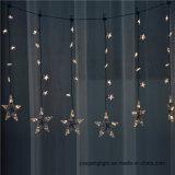 Ce&RoHS aprovou a luz da cortina 1m60LED com a estrela para a decoração da HOME/Natal/casamento