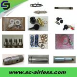 Peças profissionais do pulverizador da bomba de pistão e extensão de alumínio Pólo dos equipamentos da pintura