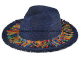 Sombrero de papel tejido borde ancho de Sun del sombrero de ala de los sombreros de paja