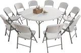 Горячий продавая складной столик 180cm пластичный круглый, обедая таблица, таблица банкета, универсальноая-применим таблица