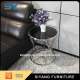 居間の家具のソファー表の金属の側面表