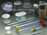 Коробка промотирования ясная пластичная круглая для пакета еды (пластичная круглая коробка)