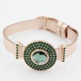 Form-Münzen-Charme-Armband mit bunten Bithstones Schmucksachen
