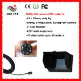 1080P HD cámara de pesca de 10-20m de la cámara digital resistente al agua con 7 pulgadas LCD Monitor DVR (5 mega píxeles)