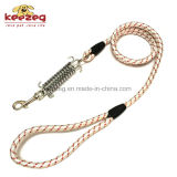 Laisse de corde de formation de chien de haute qualité avec ressort tampon / nylon (KC0111)