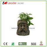 Plantador del jardín de la cara del árbol de Polyresn para la decoración del hogar y del césped