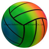 Eco Friendly PVC Color Changing Custom Printed Rainbow Voleibol Ball de praia