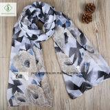 Voile Multicolor Rhombus Peonyによって2017の方法女性印刷される女性のスカーフ
