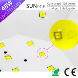 UV LED Gel Nail Lamp, Sun1 Sunone Sun Light LED Nail Lamp 48W 365nm + 405nm