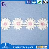 Tessile di prima scelta della casa del ricamo del fiore di Sun di codice a barre del merletto di colore del merletto solubile in acqua di seta del latte