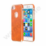 Coller la peau de couleur orange TPU Étui pour iPhone 7