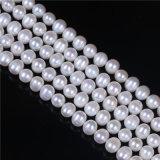 インチ長さ等級8mmの9mm淡水の真珠の繊維の緩いビード16