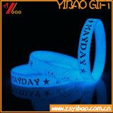 Resplandor en la pulsera luminosa oscura del silicón, Wristband del silicón, Wristband de goma, Wristband de la promoción (XY-BR-027) de la alta calidad