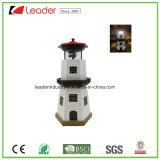 De ZonneVuurtoren van de hars met de Roterende Kunst van de Werf van de Lamp met Rode en Witte Gestreepte Kleur