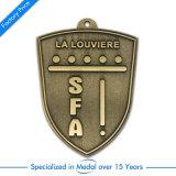 Médaille argentée faite sur commande de rugby de Whollesale pour le souvenir