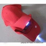 Il ricamo su ordinazione ricopre la protezione promozionale dell'accenditore dei berretti da baseball LED della protezione di Snapback del cappello delle protezioni del cotone di Burshed