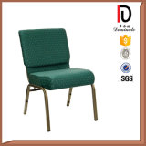 Mueble Comercial Barato Arm Aluminum Metal Church Chair with Net