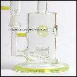 Gicleur vert Perc de Toro Slyme Pyrex par couleur américaine 8 pouces de barboteur de pipe de plate-forme pétrolière en verre de conduites d'eau de fumage